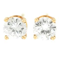 .50 Carat Diamonds Gold Stud Earrings