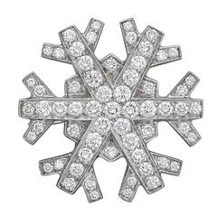 Tiffany & Co. Diamond Platinum Snowflake Brooch