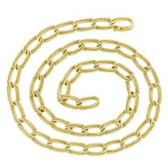 Gubelin Twisted Cable Double-Link Gold Necklace
