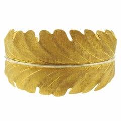 Buccellati Gold Leaf Motif Cuff Bracelet