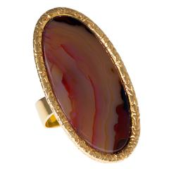 Andrew Grima Gold and Agate Ring