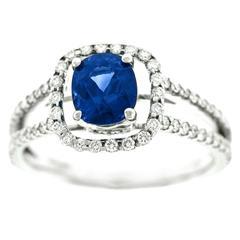 Beautiful Sapphire Diamond Gold Ring