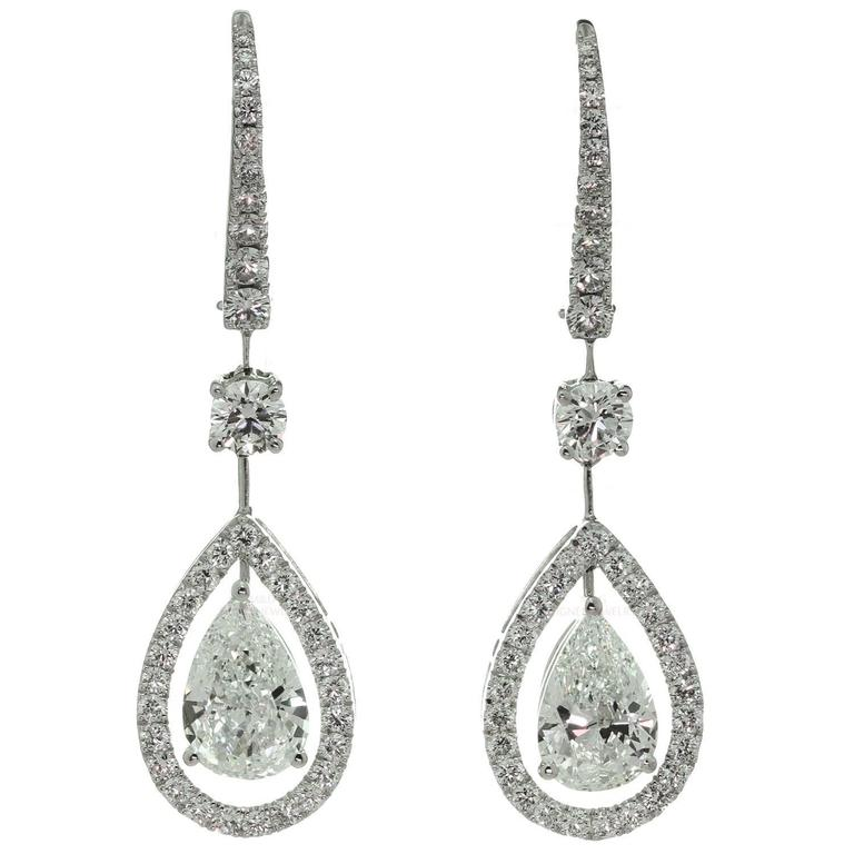 Graff Diamond Gold Drop Earrings For