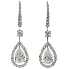 Graff Diamond Gold Drop Earrings