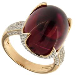 Jona Rubelite Tourmaline Diamond Gold Ring