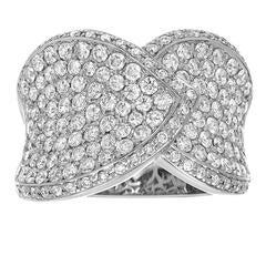Diamond Gold Cluster Ring