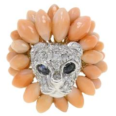 Luise Diamond Two Color Gold Lion Cluster Ring