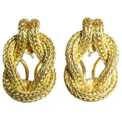 Lalaounis Gold Hercules Knot Earclips