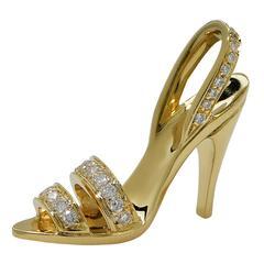 Diamond Gold Stiletto Pendant