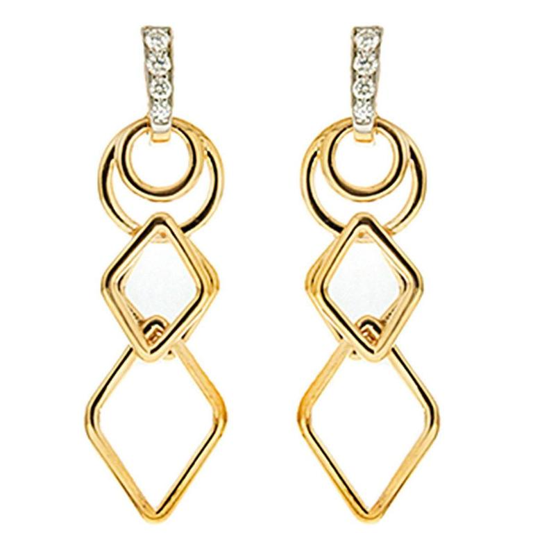 Valentin Magro Geometric Links Dangling Gold Earrings For