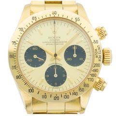 Rolex Yellow Gold Daytona Chronograph Wristwatch Ref 6265