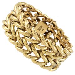 Tiffany & Co. Gold Large Link Cuff Bracelet