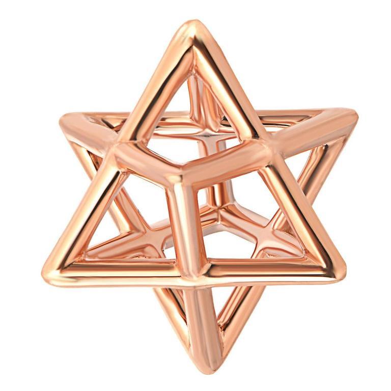 Merkaba Star Rose Gold Pendant Necklace