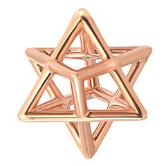 Merkaba Star Rose Gold Pendant Necklace