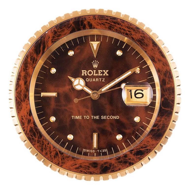 Rolex Time To The Second Quartz Desk Clock