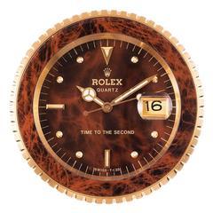 """Rolex """"Time To The Second"""" Quartz Desk Clock"""