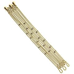 Cartier Draperie de Decollete Diamond Gold Bracelet