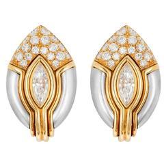 Diamond Ear Clips by Bulgari
