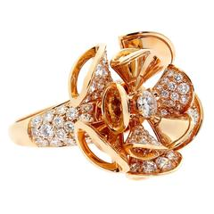 Bulgari Diva Diamond Gold Ring