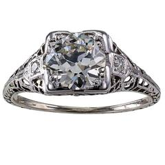 1.26 Carat Art Deco Engagement Ring