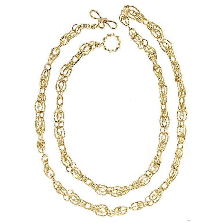 Valentin Magro Interlocking Oval Links Gold Necklace