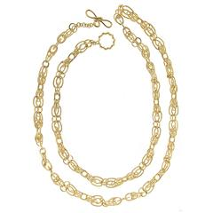 Interlocking Oval Links Gold Necklace