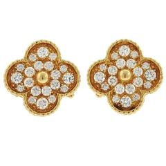 Van Cleef & Arpels VCA Magic Alhambra Diamond Large Earrings
