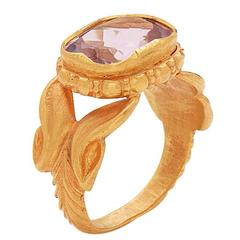 Rose Amethyst Ring in 22 Karat Gold