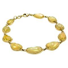 Large Opal Link Bracelet