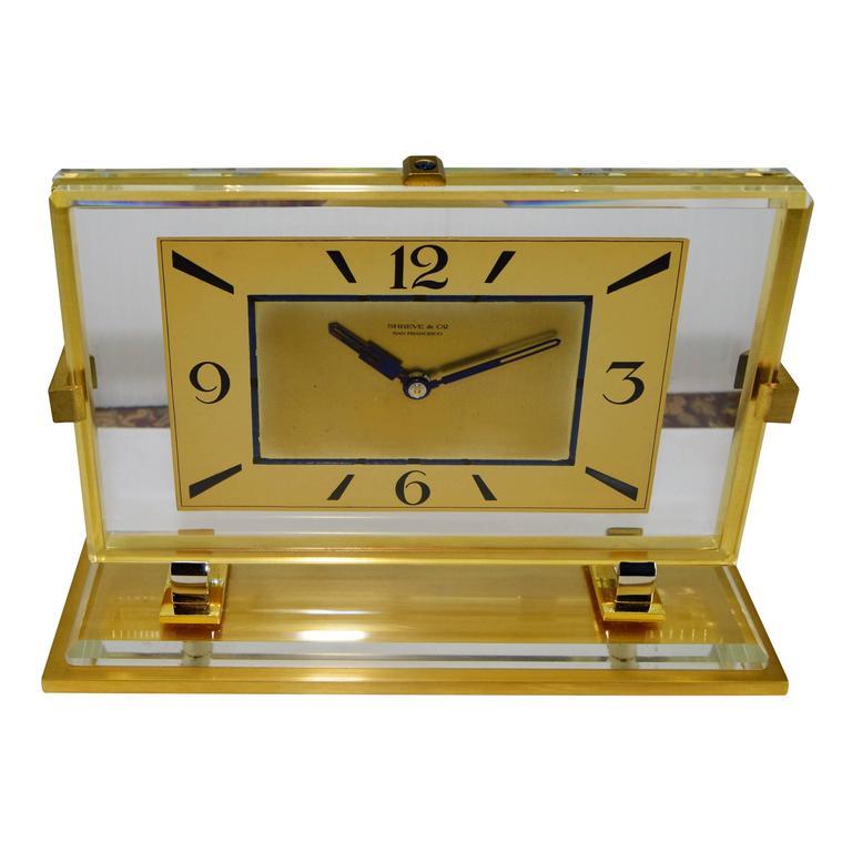 1930s Shreve And Company Art Deco Desk Clock