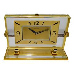 1930s Shreve and Company Art Deco Desk Clock