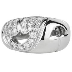 Bulgari Nuvole Collection Diamond Platinum Ring