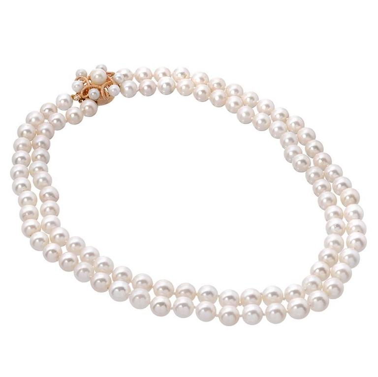 Akoya Pearl Double Strand Necklace