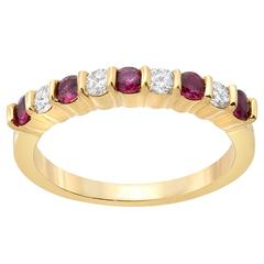 Ruby and Diamond Wedding Bands 197 For Sale on 1stdibs