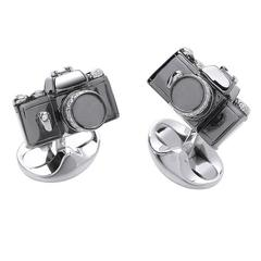 Deakin & Francis Sterling Silver Camera Cufflinks
