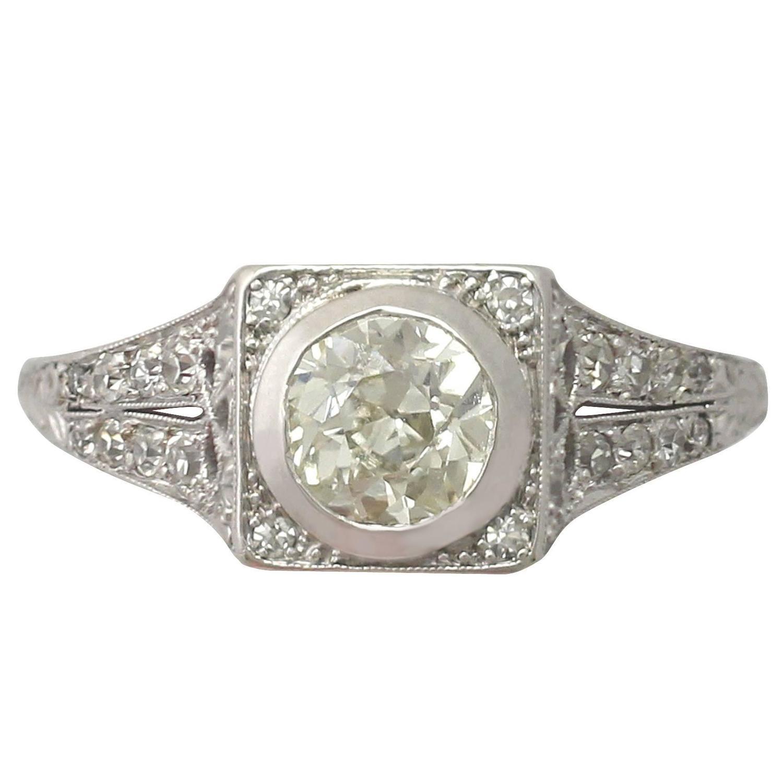 Trefoil Diamond Engagement Ring