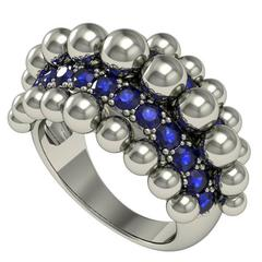 Melody Deldjou Fard Sapphire and Gold Ring