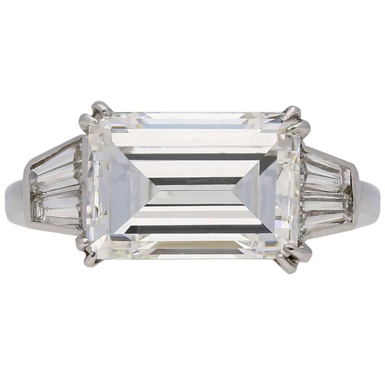 Van Cleef and Arpels emerald cut 3 41 carat diamond engagement ring at 1stdibs