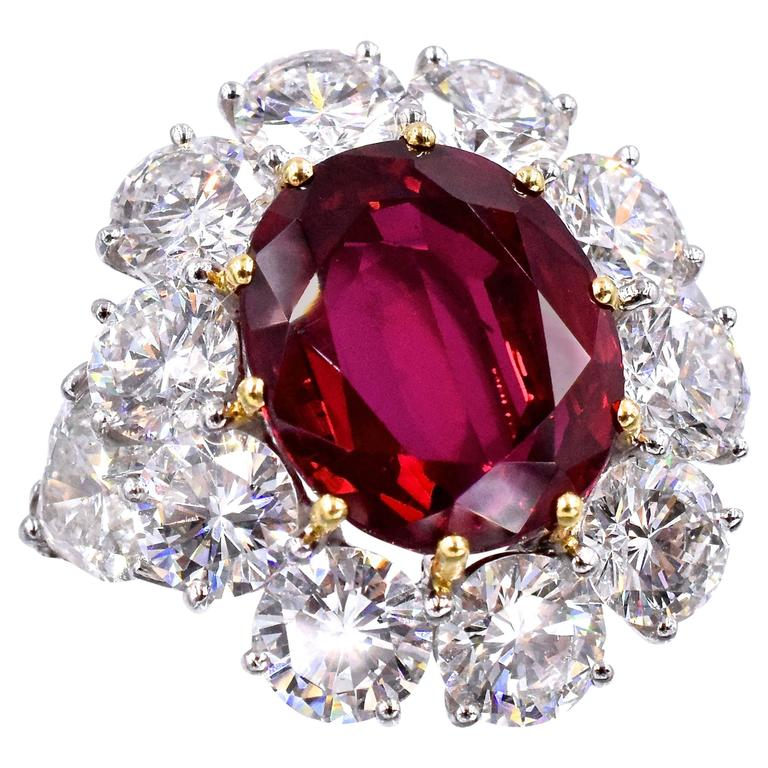 Graff 9 44 Carat Ruby Diamond Ring At 1stdibs
