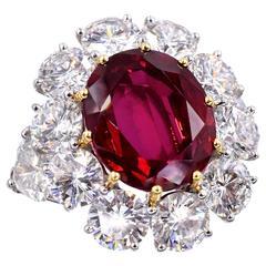 GRAFF  9.44 carat Ruby  Diamond Ring