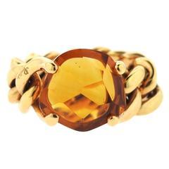 Pomellato Lola Gold Madeira Quartz Ring
