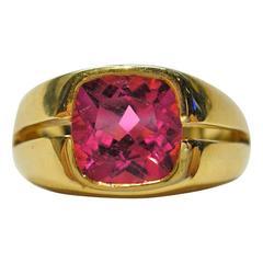 Jona Rubellite Gold Band Ring