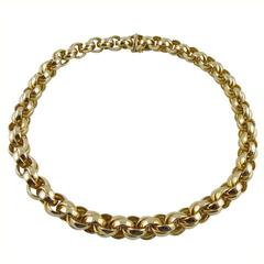 Jona Large Yellow Gold Link Necklace