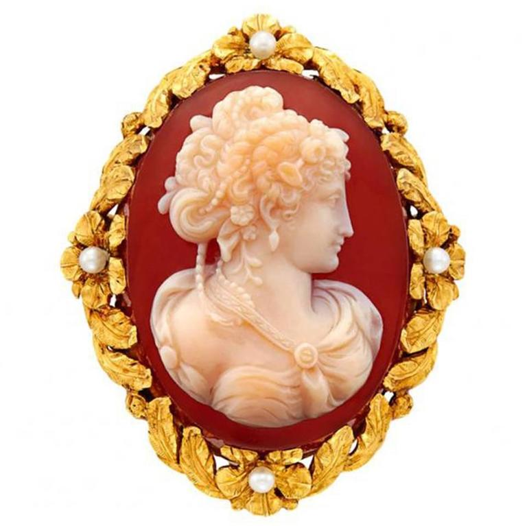 Tiffany Antique Cameo Brooch