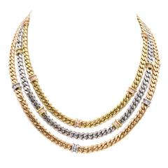 Fred Paris Gold Diamond Necklace