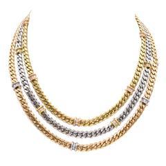 Fred Paris Gold  Diamond Necklace