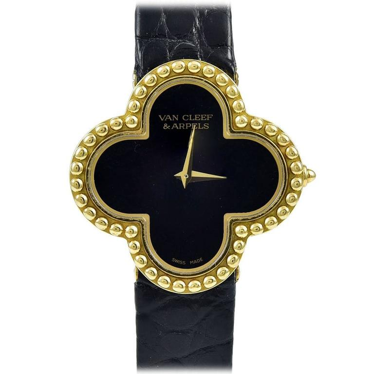 VAN CLEEF & ARPELS Alhambra Gold Watch