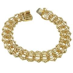 """Gold Link Bracelet 10"""" Long"""