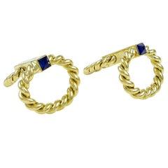 KUTCHINSKY Flip-Up Gold Cufflinks