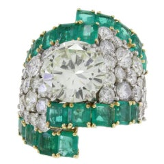 Amsterdam Diamond Emerald White Gold Ring